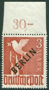 Berlin-19-sauber-postfrisch-OR-Oberrandstueck-BPP-geprueft-Schlegel-MNH-350-MNH