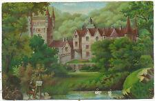 Fantasy postcard, artist painting large house