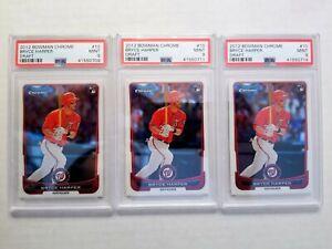 2012-Bowman-Chrome-Draft-10-Bryce-Harper-PSA-9-MINT-RC-Quantity-Available