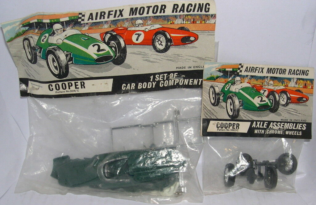 MRRC AIRFIX 5038 C BODYWORK COOPER F1 + CHASIS1 GREEN + 5082 BLISTER AXES MB