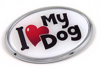 Chihuahua Dog PINK 3D Chrome emblem Pet Decal Car Auto Bike Truck Sticker  Oval