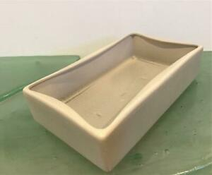 Hyalyn-Pottery-Signed-Vtg-Mid-Century-Mod-233-Planter-Console-Bowl-Gray-Exc-MCM