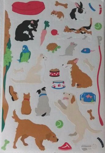 Mrs Grossman/'s PETS dogs cats bird rabbit turtle Stickers Very RARE 2004