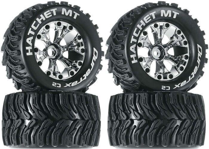 Duratrax 2.8 Mounted Hatchet MT Tires Wheels 4 Nitro Jato Stampede Rustler F   R