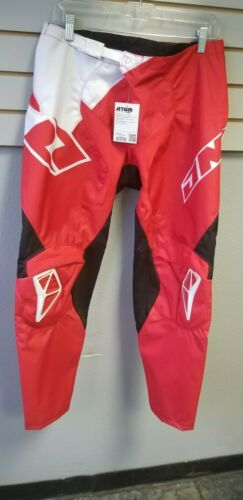 One industries Atom Wedge Pant Red White size 32 mx atv dirt bike off road