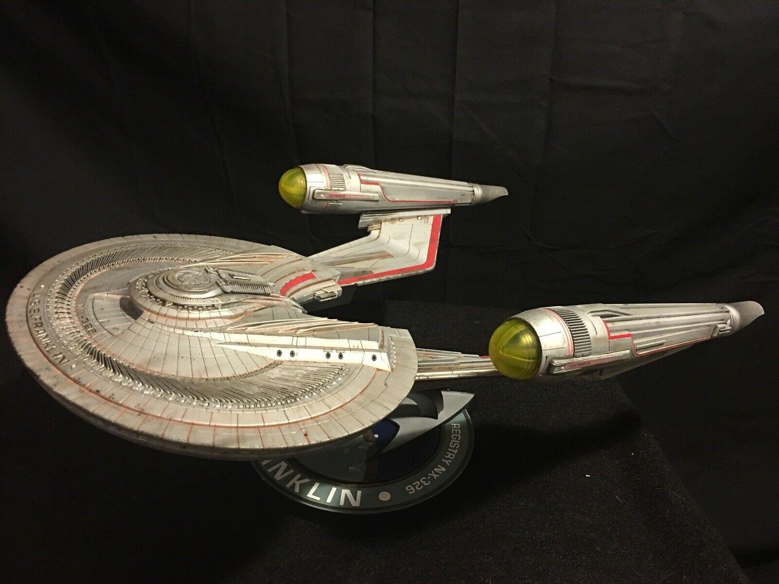 Star Trek USS Franklin Model - Moebius 1 350 -  FULLY BUILT & PAINTED