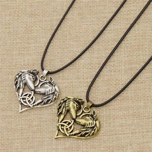 Vintage-Celtic-Wolf-Antique-Silver-Bronze-Pendant-Necklace-Jewelry-Men-039-s-Fashion