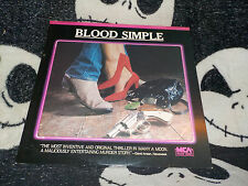 Blood Simple Laserdisc LD Coen Brothers Frances McDormand Free Ship $30 Orders