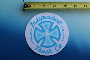 INDEPENDENT TRUCKS skateboard skate laptop BLUE STICKER Four Pack Lot of 4