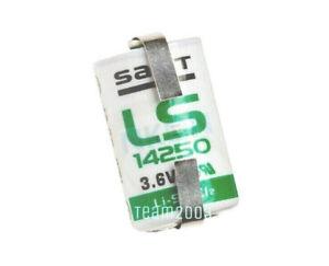 Batteria litio SAFT LS14250 1/2 AA 3,6V Li/SoCl2  c/ lamelle a saldare