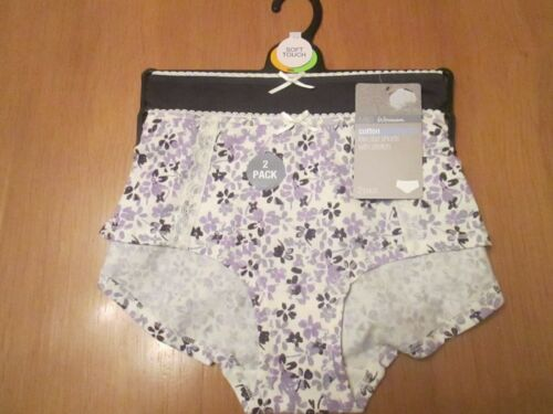 Marks /& Spencer SALE 2 pack low rise short knickers 1 x blue 1 x whit size 10//12