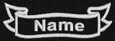 Personalised name, patch, emblem, badge,biker, trike, ribbon, 90mm x 30mm