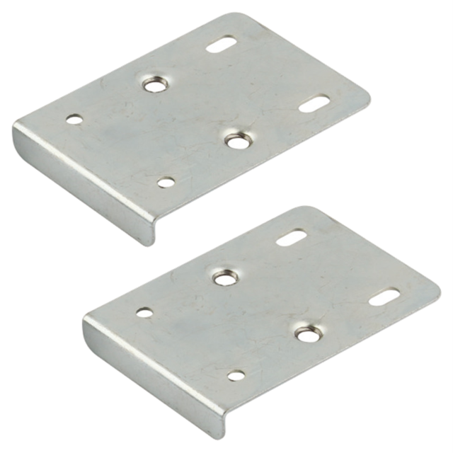 Kitchen Door Hinge Repair Plates BZP Silver Base Unit Wall Cupboard Cabinet Pair
