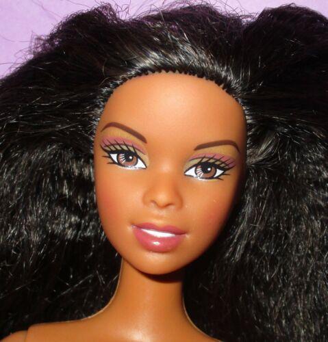 Barbie Asha Nichelle Black AA Cali Girl Beach Afro Hair Doll for OOAK or Play!