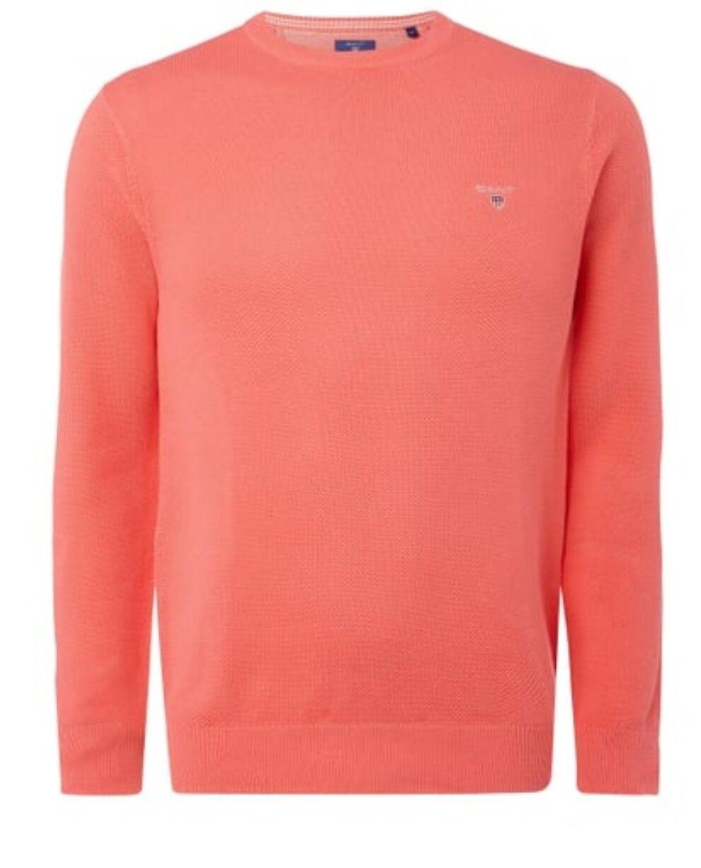 GANT Pullover Gr.2XL   Cotton Wool   Koralle Herren ORIGINAL