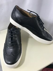 G.H.Bass Women's Black Leather Oxford