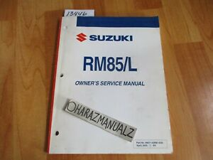 2006-SUZUKI-RM85-L-Owner-Owners-Owner-039-s-Service-Manual