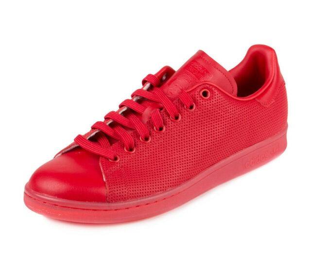 buy popular 33512 54416 adidas Stan Smith Size 10 Red Adicolor Mens Sneaker Shoe S80248