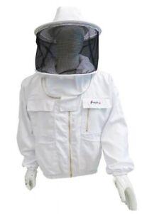 Bee Veste Costume Qualité Premium Apiculture/épais Clôture Maille Métal/zip/2 Xlarge-afficher Le Titre D'origine