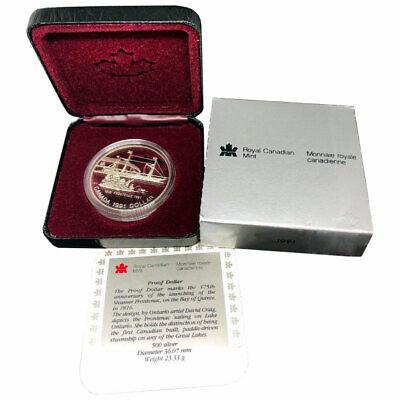 1991 CANADA PROOF FRONTENAC SILVER DOLLAR HEAVY CAMEO COIN