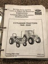 Ford New Holland 6 Cylinder 7840 8240 8340 Tractor Parts Catalog Manual