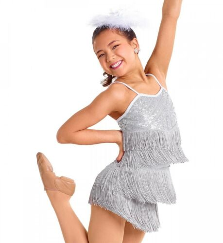 Dance Costume Child /& Adult SIZES Red Silver Black Sequin Fringe Jazz Tap GROUP