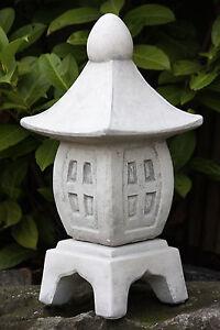 sculpture en pierre lanterne Pagode Ciment étang décoration de ...