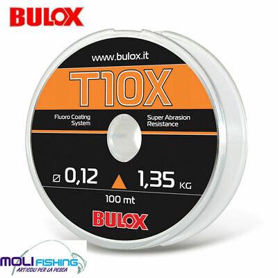 Adattabile Filo Nylon Pesca Bulox T10x -100 M - Tutti Diametri Per Mulinello E Finali Japan