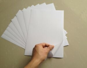 50Sheets-A4-White-Glossy-Self-Adhesive-Sticker-Photographic-Photo-Printer-Paper