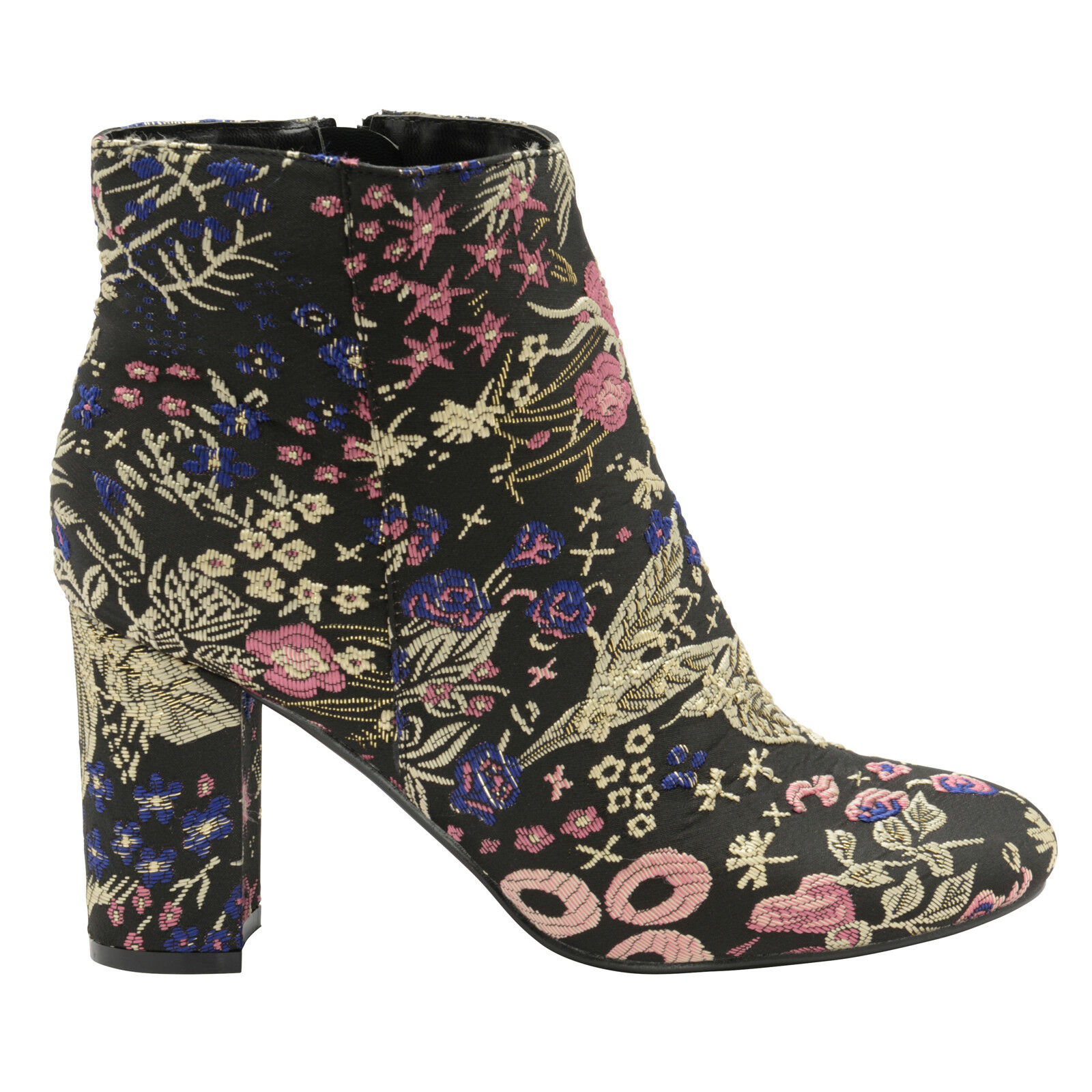 Dolcis Florine Womens Floral Embroidered Embroidered Embroidered Ankle Boots Ladies Block Heel shoes a9cf39