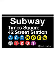 TIMES SQUARE SUBWAY SIGN TIN NEW YORK CITY