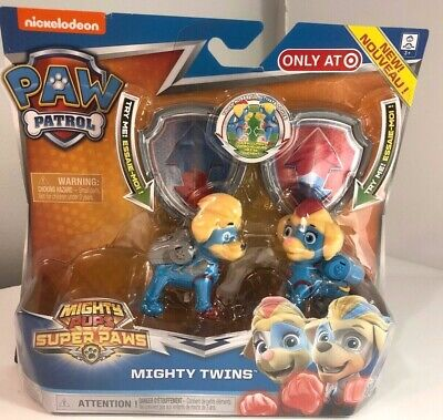 Nickelodeon Paw Patrol Mighty Twins Mighty Pups Super Paws Ages 3 NEW
