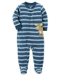 950650552add CARTER S® Toddler Boy 4T Moose Striped Footed Pajama or Fleece ...