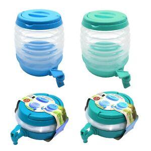 2x-Getraenkespender-Faltbar-3-5l-Limonadenspender-Wasserspender-mit-Zapfhahn