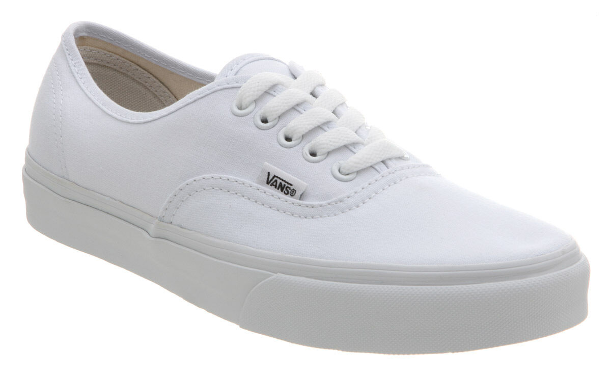 Vans Authentic True White Mens & Womens Canvas Shoes Sneakers All Sizes