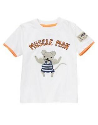 GYMBOREE CIRCUS CUTIE MUSCLE MOUSE Muscle Man S//S TEE 2T 3T 4T 5T NWT