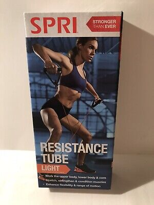 SPRI Resistance Tube Band Light Resistance up to 20 LBS Athletic Exercise