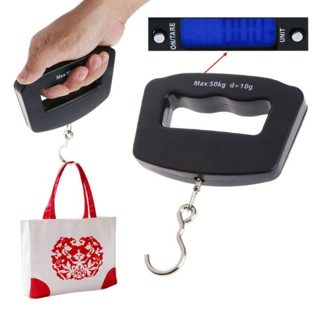 Portable 50kg//10g LCD Digital Fish Hanging Luggage Weight Electronic Hook Scal