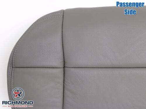 2001 2002 Ford F-150 Lariat SuperCrew Passenger Bottom Leather Seat Cover Gray