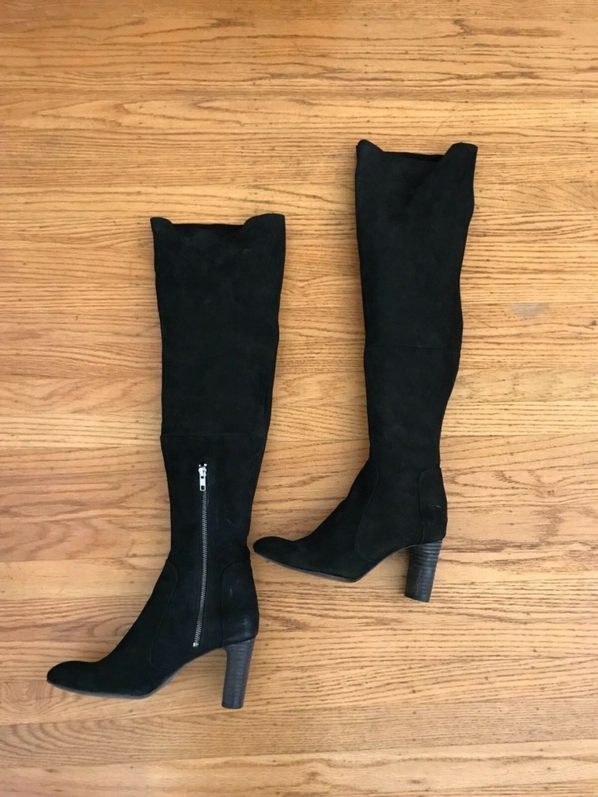 248 FREE PEOPLE Womens black nubuck Hight Tall boots 40 9.5