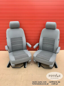 Details About Seats Vw T5 T6 Front Seat California Armrests Comfort Adjustments Swivel Airbag