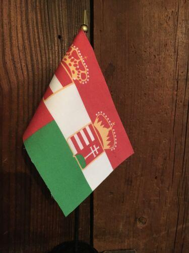 "Austro-Hungarian Naval or War Ensign 1869-1918 Mini Desk Flag 4/"" x 6/"" WW 1 WWI"