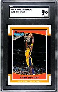 2002-03 Bowman Signature #SE-KB Kobe Bryant SGC 9 MINT Basketball Card HOF GOAT