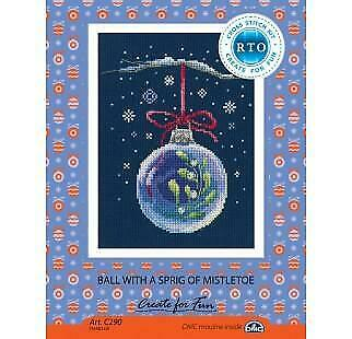 Christmas Bauble With a Sprig of Mistletoe RTO Counted Cross Stitch Kit