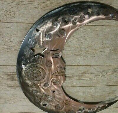 Wall Art Moon Rustic Metal Outdoor