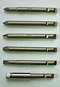 STANLEY-YANKEE-130A-amp-130B-SET-OF-6-SCREWDRIVER-BITS