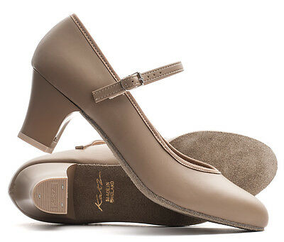 """Ladies Tan Nude Suede Sole Stage Showtime Dance Shoes By Katz Dancewear 2/"""""""