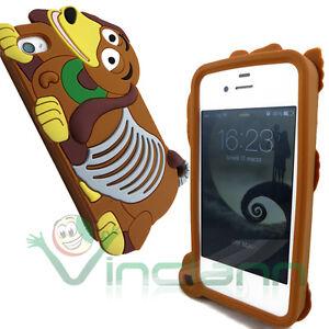 Custodia-silicone-BASSOTTO-per-Apple-iPhone-4-4S-cover-case-morbida-dachshund