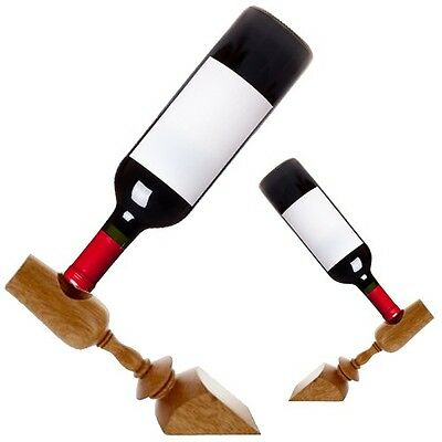 2 Pack: Balancing Wood Wine Holder - Great for Displaying Wine Bottles