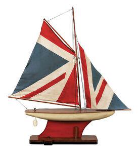 Union-Jack-Pond-Yacht-Sailboat-Model-31-034-Great-Britian-British-Flag-1776-New